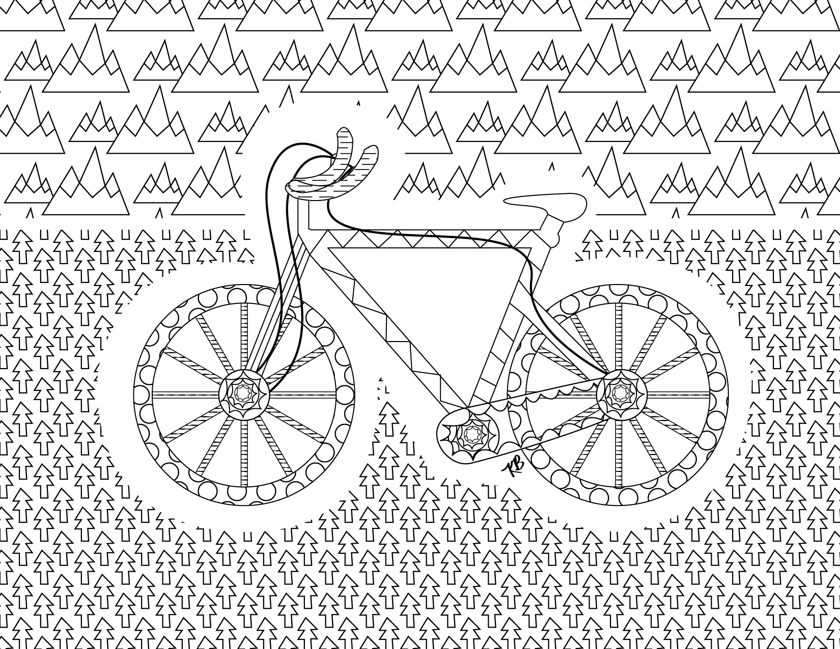 free bike coloring page kristinbell org