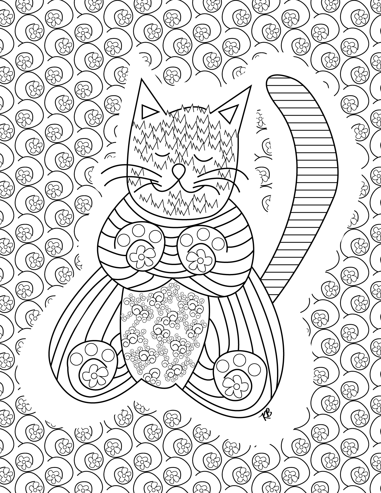 FREE Kitty Coloring Page! | kristinbell.org